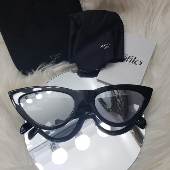 f5ded8cf6bb Celine cat eye mirrored sunglasses